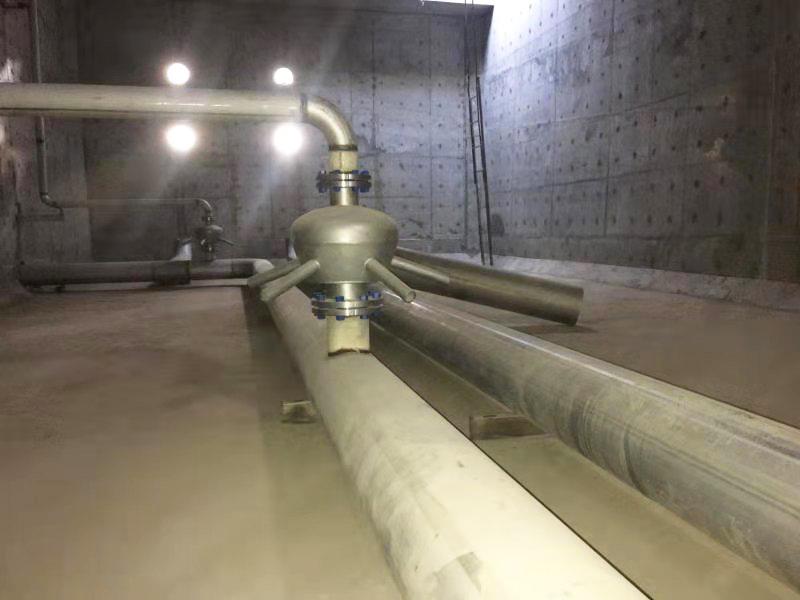 内蒙某煤化工污水处理项目射流混合曝气器安装